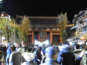 Outside Senso-ji NYE